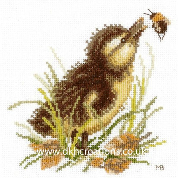 Duckling & Bumble Bee Cross Stitch Kit